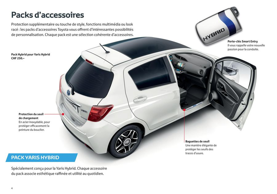 volume grand style unique sélectionner pour plus récent Accessoires Yaris 2015 (Französisch) von Toyota
