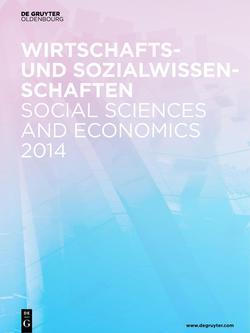 Neuerscheinungsverzeichnis Wirtschafts- und Sozialwissenschaften 2014