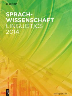 Neuerscheinungsverzeichnis Sprachwissenschaft 2014