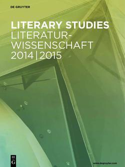 Literaturwissenschaft 2014/2015