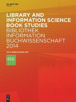 Bibliothek, Information, Buchwissenschaft 2014
