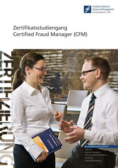 Zertifikatsstudiengang Certified Fraud Manager (CFM) 2011