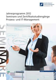 Competence Center Katalog 2012 Prozess- und IT-Management