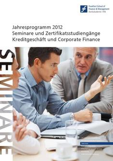 Competence Center Katalog 2012 Kreditgeschäft und Corporate Finance