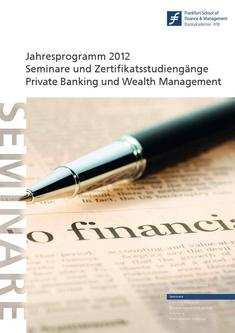 Competence Center Katalog 2012 Private Banking und Wealth Management