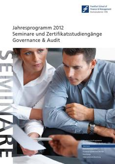 Competence Center Katalog 2012 Governance & Audit