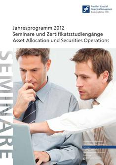 Competence Center Katalog 2012 Asset Allocation and Securities Operations