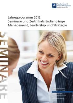 Competence Center Katalog 2012 Management, Leadership und Strategie