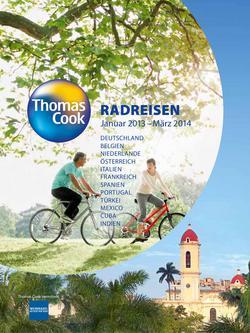 Radreisen 2013/2014