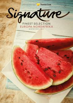 Signature Finest Selection Europa, Nordafrika Winter 2016/2017