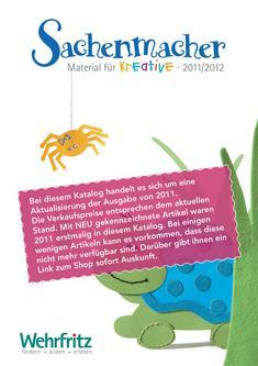 Der Katalog für kreative Sachenmacher (D) 2011/2012