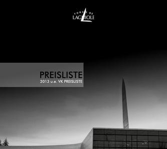 Forge de Laguiole Preisliste 2013