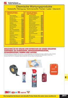 Chemische Wartungsprodukte 2012