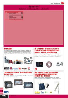 Batterien und Ladegeräte 2012