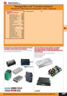 Netzgeräte und Transformatoren 2012