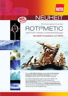 ROTI®METIC HIGH PURITY Metalle und Metallverbindungen 2012