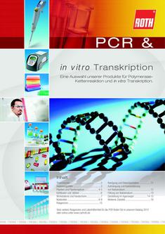 PCR & in vitro Transkription 2012
