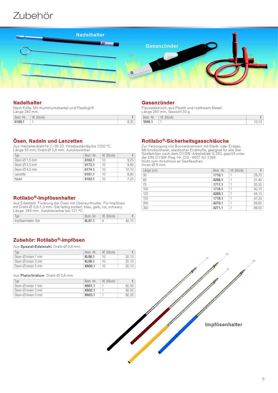 Sicherheits-Laborgasbrenner 2012 von Carl Roth GmbH + CO. KG