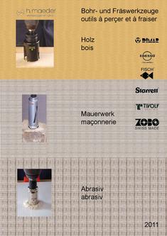 H.Maeder Holzbearbeitungs-Werkzeuge 2012