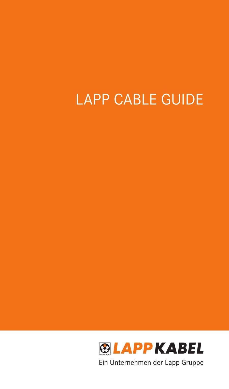 Lapp Cable Guide 2016 von Lapp Kabel Deutschland