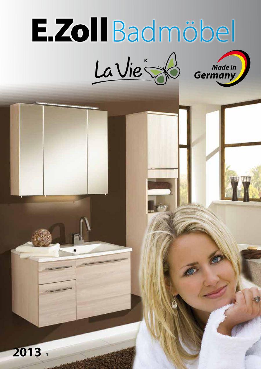 LaVie Badmöbel Programm 2013-1 von E.Zoll Badmöbel