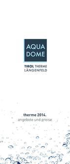 Preise und Infos zur Therme 2014
