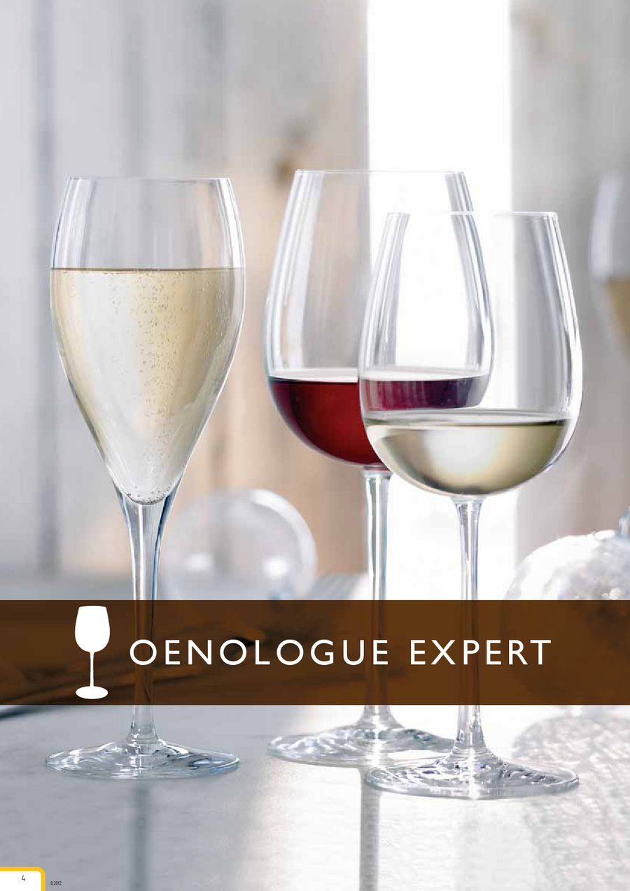 6/Gl/äser a Wein tannic 55/cl Chef et Sommelier Serie Open Up
