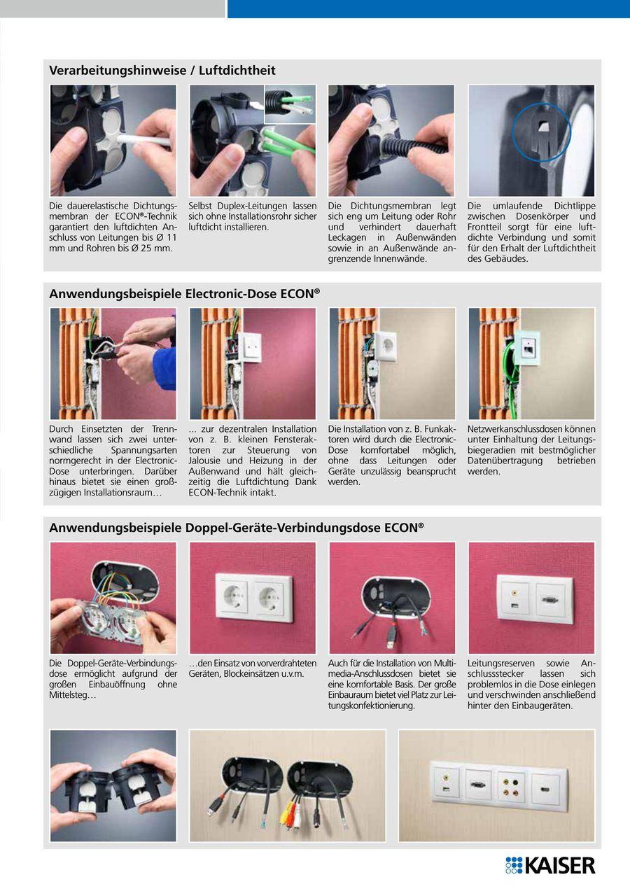 Electronic-Dose ECON® und Doppel- Geräte-Verbindungsdose ECON® 2012 ...
