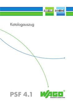 Katalogauszug 'Product Shortform'