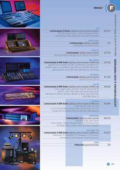 Ultralite Lichtsteuerungen, Dimmer & DMX-Peripherie 2013/2014