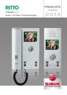 Ritto Audio- und Video-Türsprechanlagen Preisliste 2014
