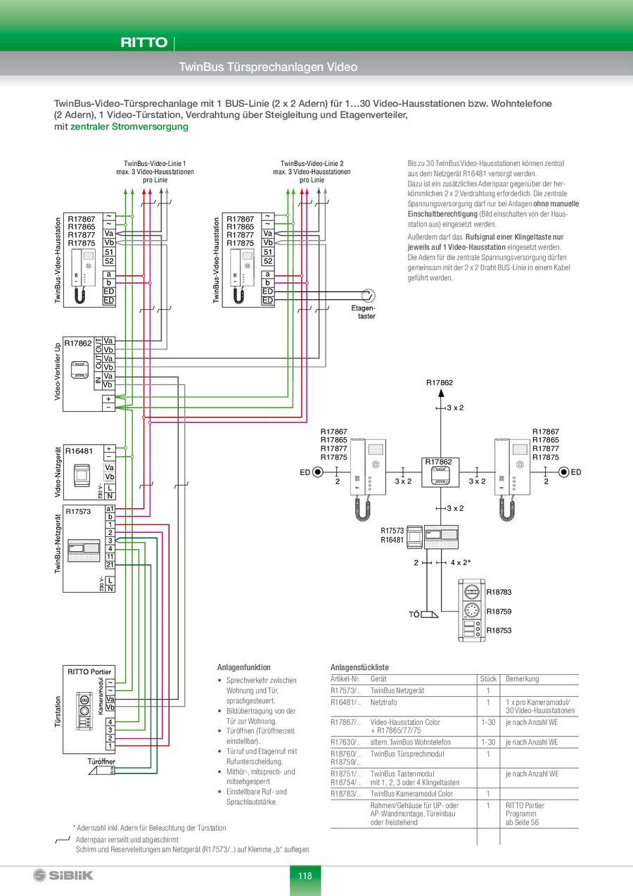 Ritto Twinbus Turumschaltung Schaltplan