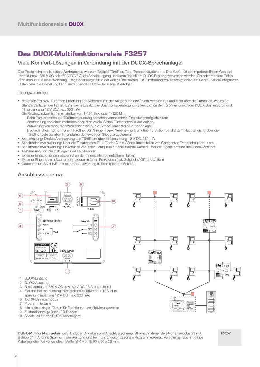 Seite 10 von Fermax DUOX 2-Draht-DIGITAL-Technologie 2016