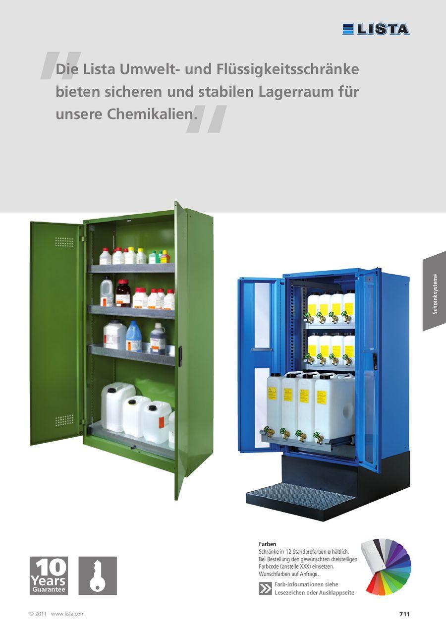 Umwelt- und Flüssigkeitsschränke 2013 von Lista