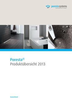 PorestaSystems Produktuebersicht 2013