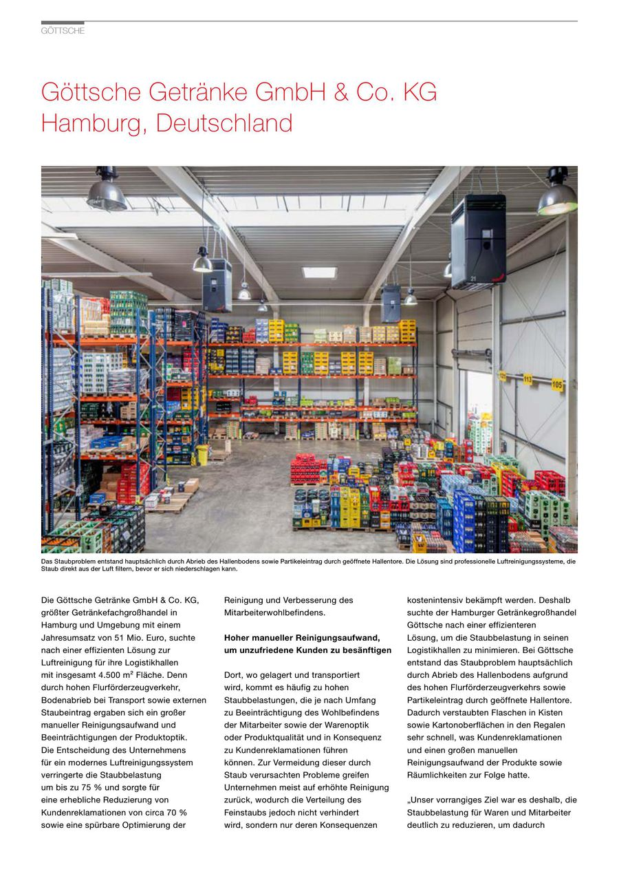 Referenzbroschüre Göttsche 2017 von Zehnder Group Deutschland