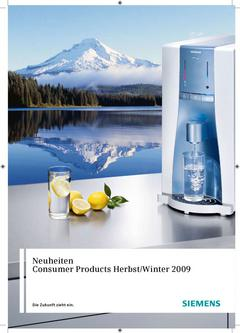 Consumer Products  Neuheiten Herbst/Winter 2009