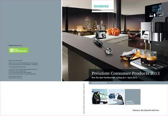 Consumer Products 2013 Preisliste