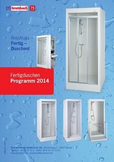 Fertigduschen Programm 2014