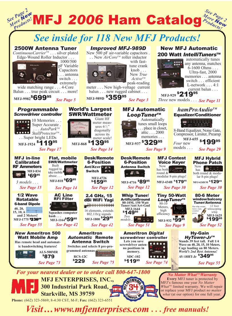 MFJ 2006 Catalog von MFJ Enterprises, Inc