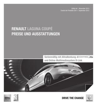 Preisliste Laguna Coupe November 2013