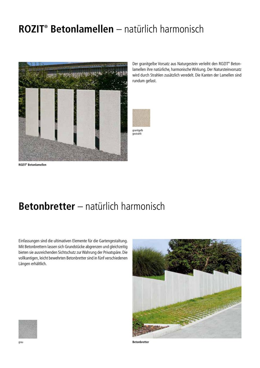 palisaden aus beton