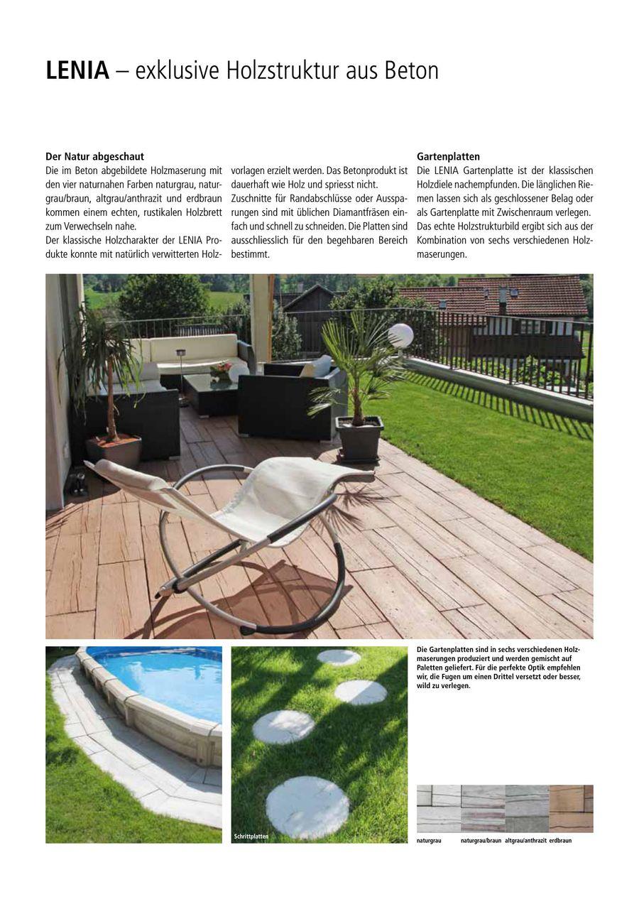LENIA Produkte Von Creabeton Baustoff - Gartenplatten in holzoptik