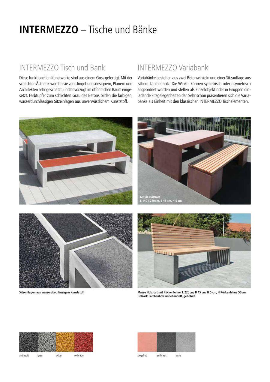 INTERMEZZO – Tische und Bänke 2015 von Creabeton Baustoff