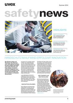 Kundenmagazin uvex safety news Sommer 2014