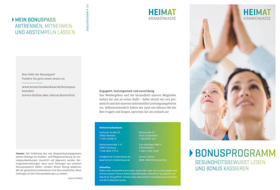 Bonusprogramm Mit Bonuspass Von Heimat Krankenkasse