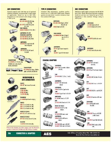 Seite 82 von AES Ham Radio Catalog von AES Amateur Electronic Supply