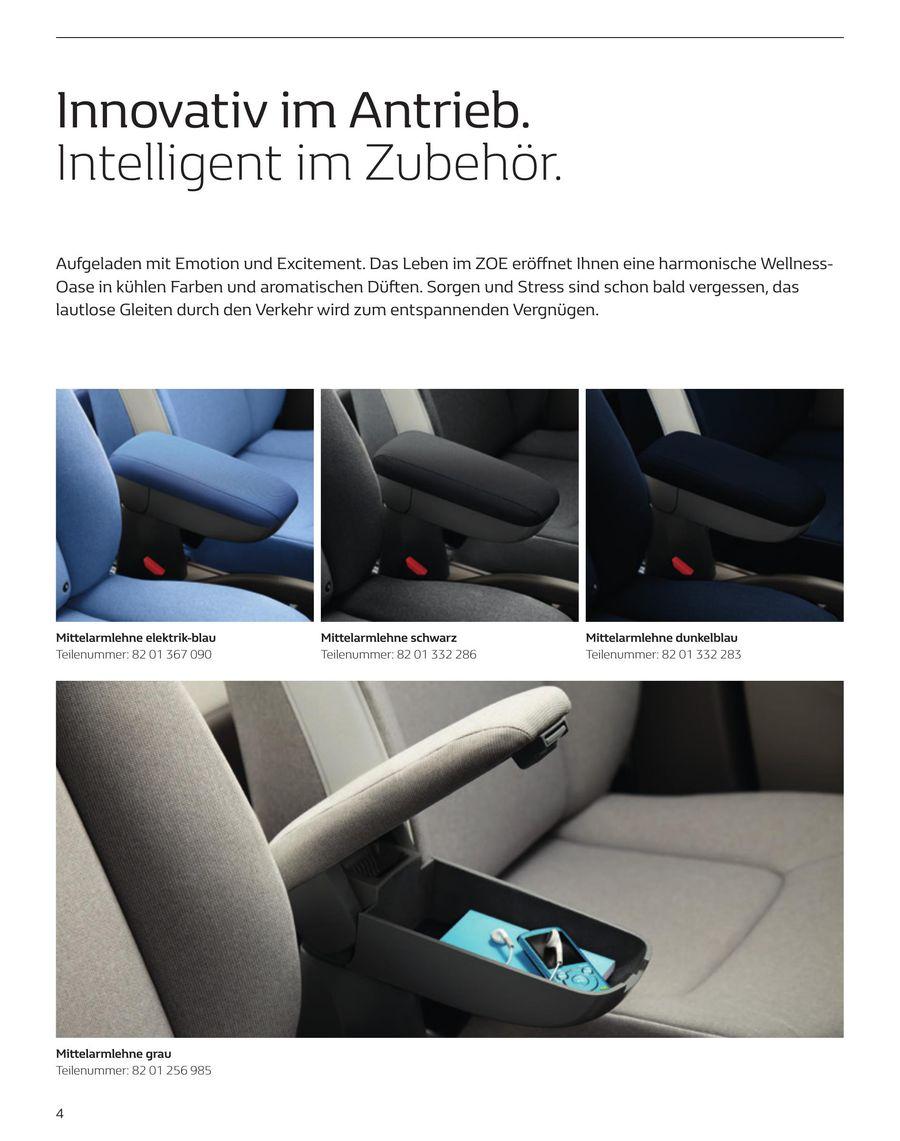 Originale Mittelarmlehne Renault Zoe in Schwarz
