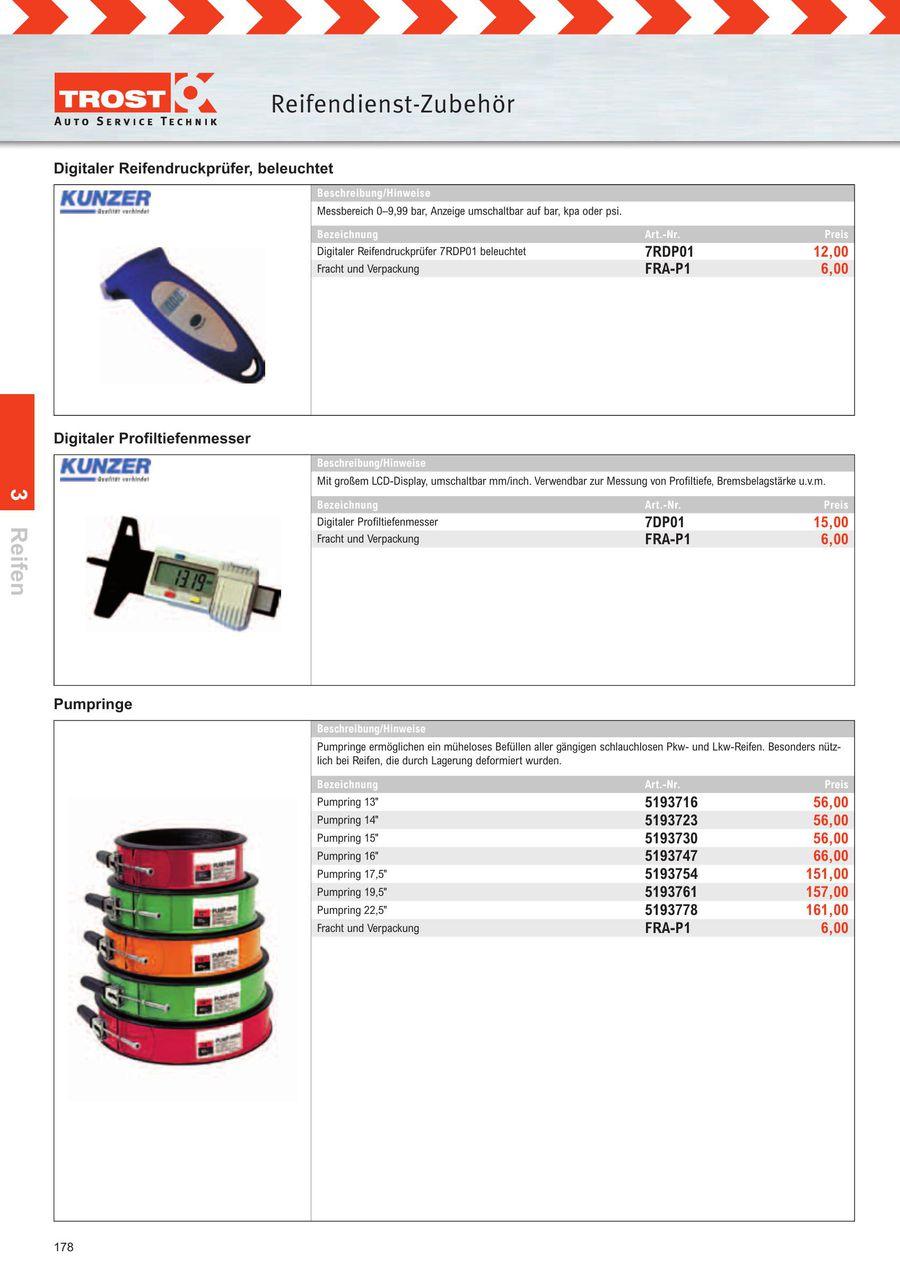 Kunzer 7DP01 Digitaler Profiltiefenmesser mit Gro/ßem LCD-Displayumschaltbar Mm//Inch
