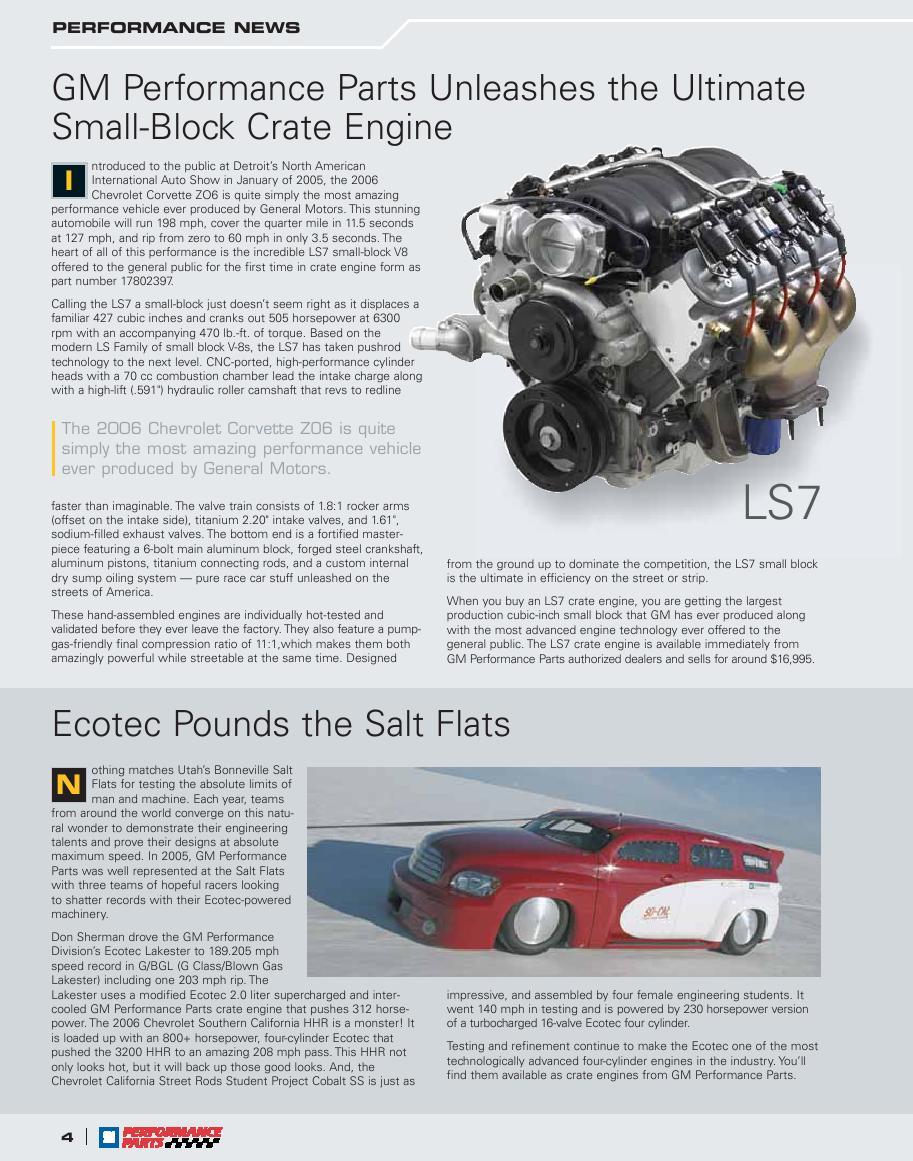 Seite 253 Von Gm Performance Parts 2006 Catalog